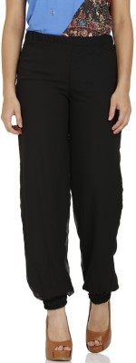 Stri Solid Pure Georgette Women's Harem Pants