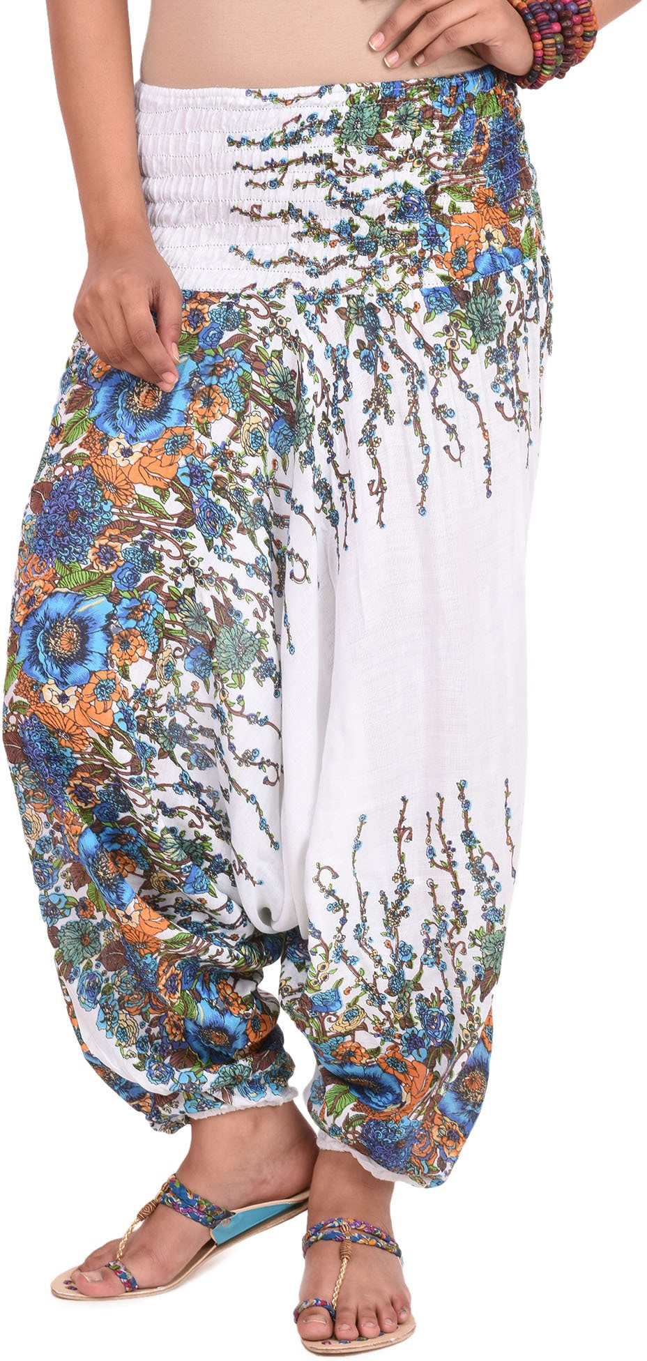 Happy Hangar Printed Viscose Womens Harem Pants