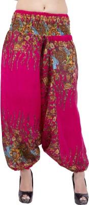 Jaipur Kala Kendra Floral Print Viscose Women's Harem Pants