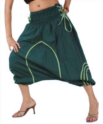 Skirts & Scarves Solid Cotton Women's Harem Pants at flipkart