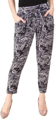 Yati Floral Print Cotton Lycra Blend Women's Harem Pants