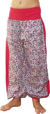 Aummade Floral Print Cotton Girls Harem Pants