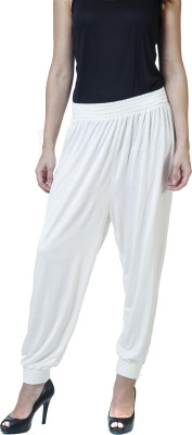 Rute Solid Viscose Women's Harem Pants