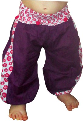 Aummade Printed, Floral Print, Striped Cotton Baby Girl's Harem Pants