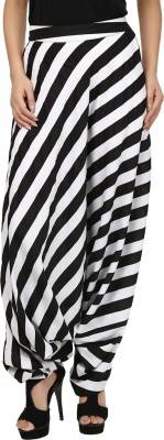 Threesome Striped Pure Georgette Women,s Harem Pants