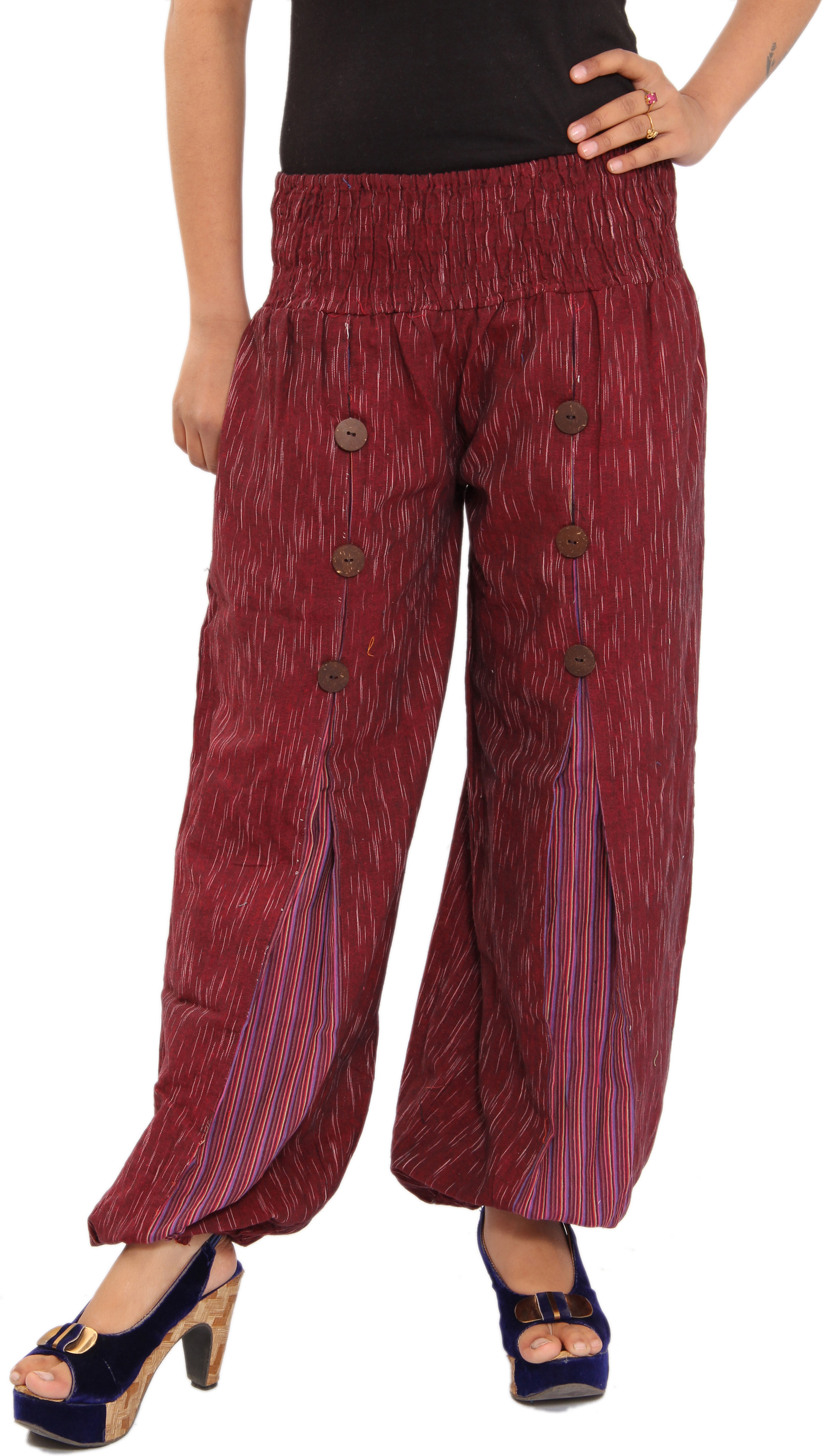 Shop Rajasthan Self Design Cotton Womens Harem Pants
