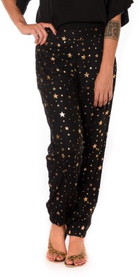Urban Religion Graphic Print Viscose Women's Harem Pants