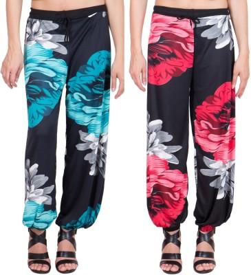 Adonia Floral Print Poly Cotton Women,s Harem Pants