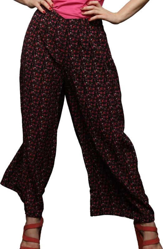 Clovia Printed Faux Crepe Women's Harem Pants
