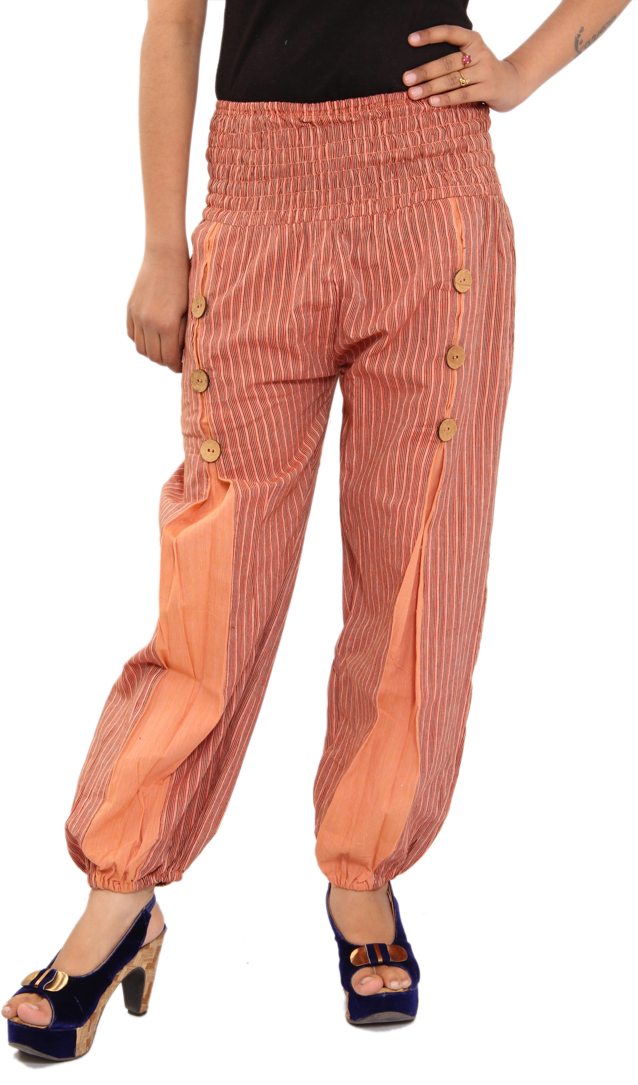 Shop Rajasthan Self Design Cotton Womens Harem Pants