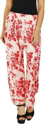 PIETRA Floral Print Viscose Women's Harem Pants