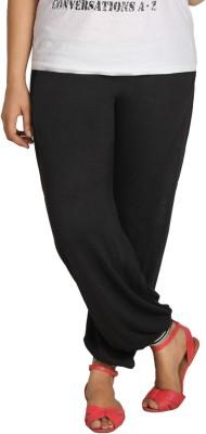 Shahfali Solid Poly Cotton Women's Harem Pants