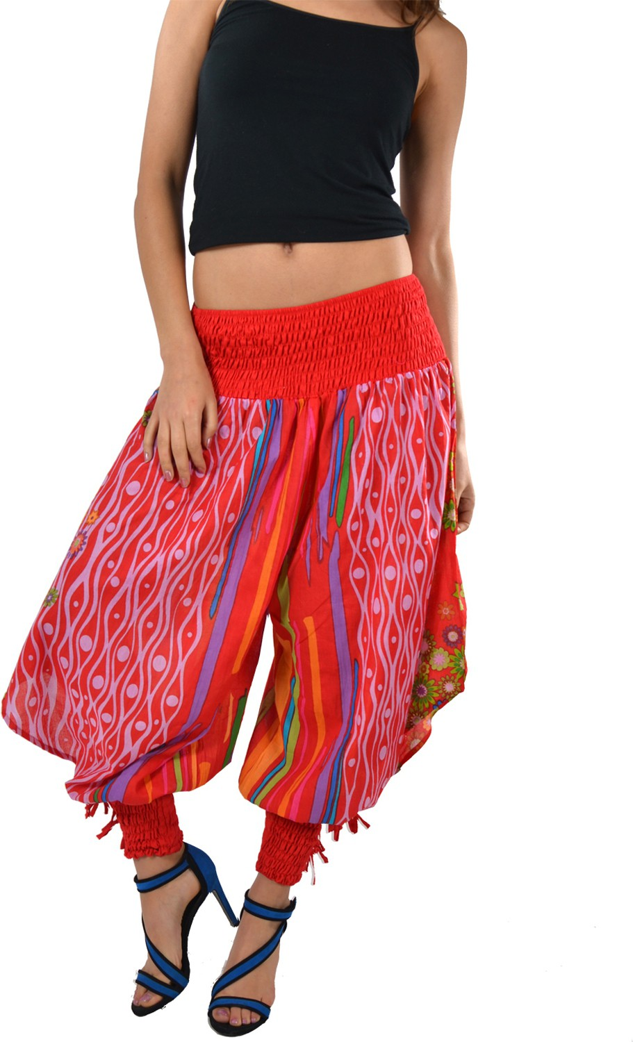 Striyah Couture Printed Cotton Womens Harem Pants