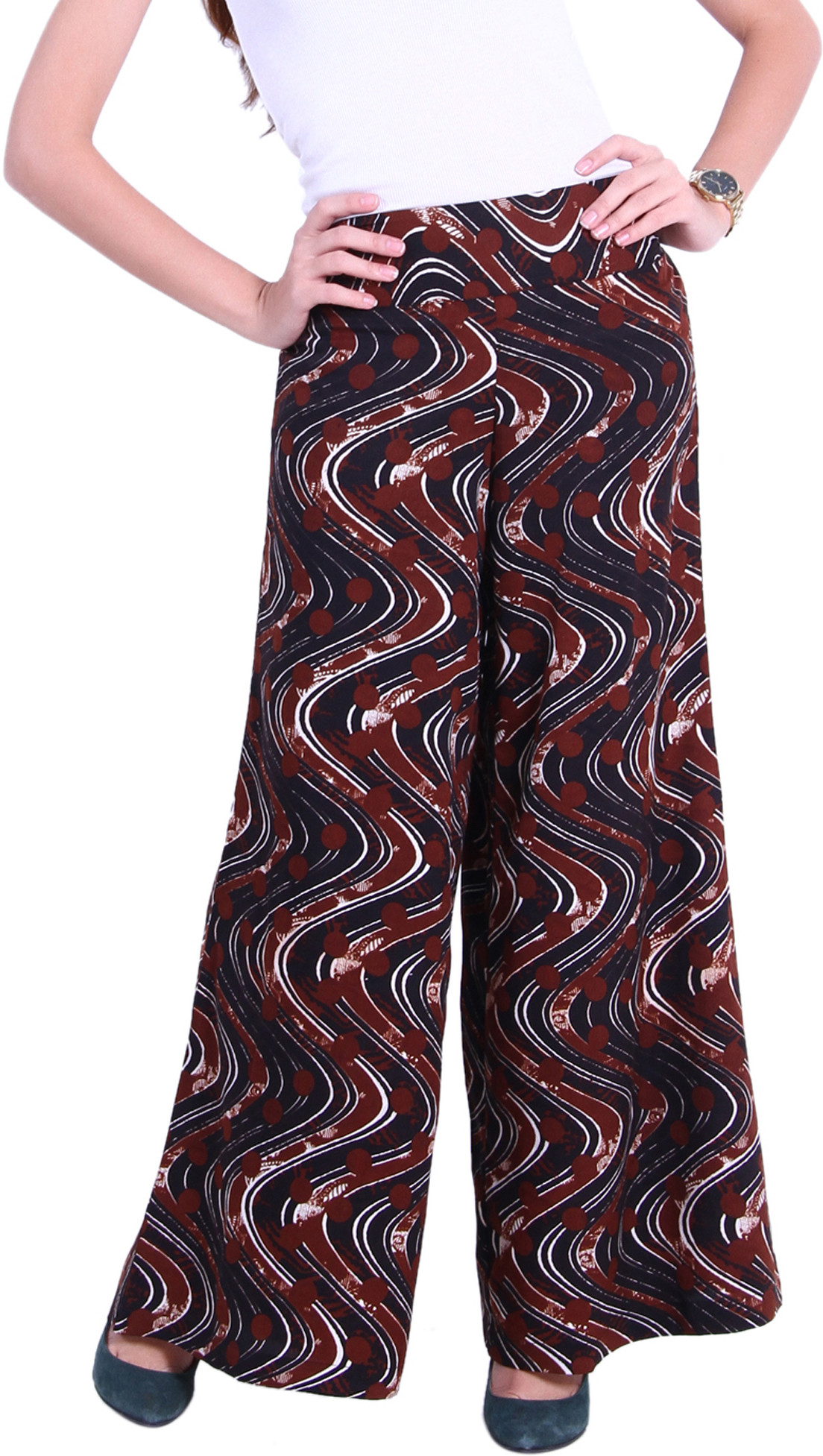 Trend18 Printed Polyester Womens Harem Pants