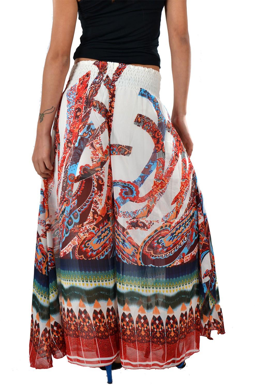 Striyah Couture Geometric Print Faux Georgette Womens Harem Pants