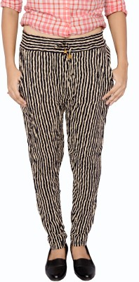 DAMEN MODE Striped Cotton Women's Harem Pants