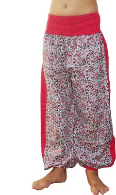 Aummade Printed, Floral Print Cotton Girls Harem Pants