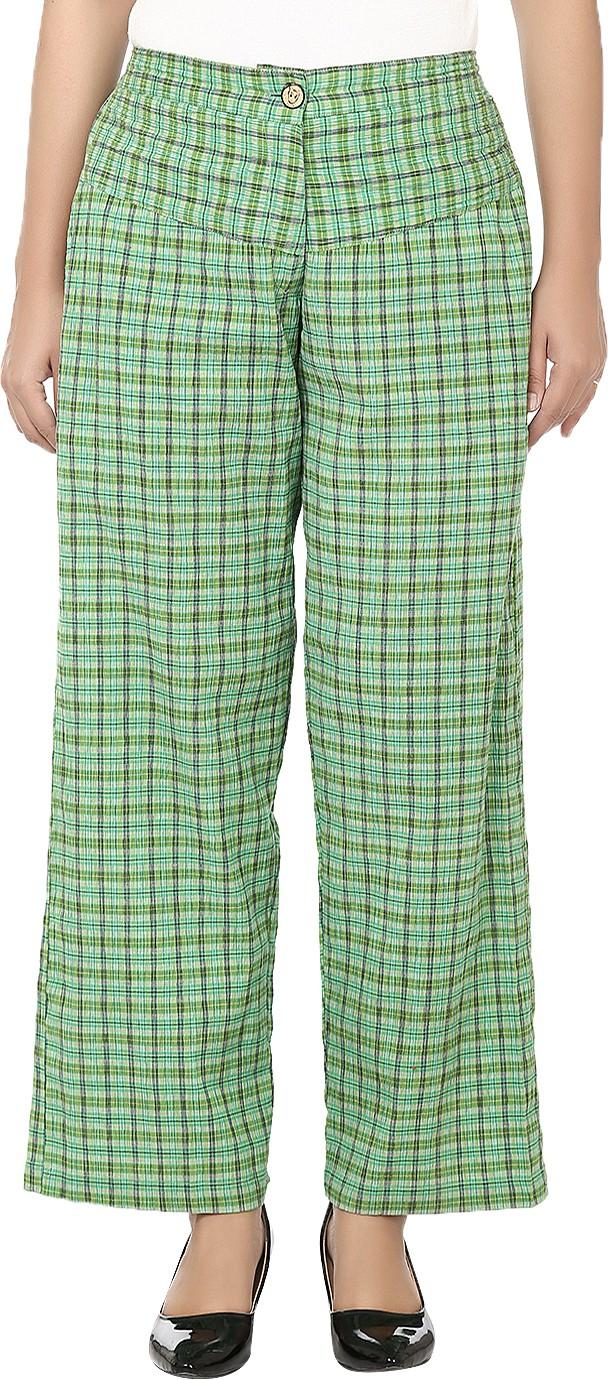 Reevolution Checkered Cotton Lycra Blend Womens Harem Pants