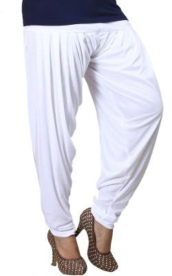 Eshelle Solid Cotton Lycra Blend Womens Harem Pants
