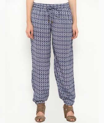 Philigree Geometric Print Polyester Women's Harem Pants