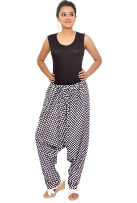 KA Checkered Cotton Women's Harem Pants