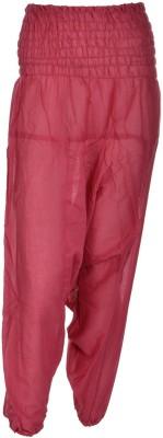 Freedom Daisy Solid Cotton Women's Harem Pants