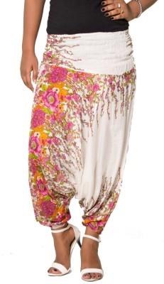 FabPoppy Floral Print Cotton Women's Harem Pants