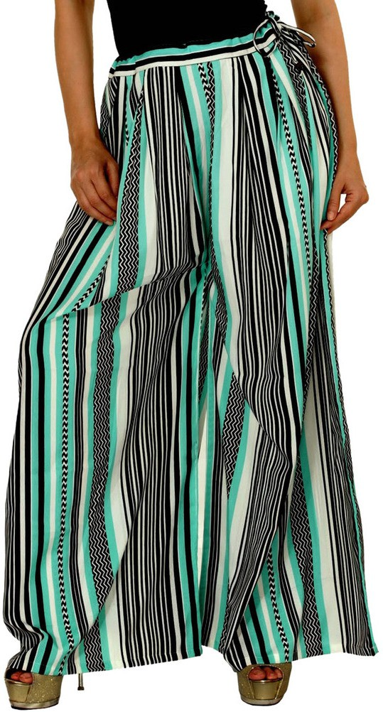Damsel Chevron Pure Crepe Womens Harem Pants