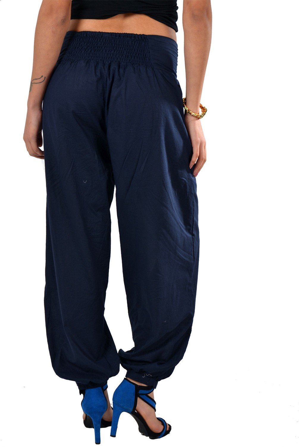 Striyah Couture Embroidered Cotton Womens Harem Pants