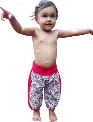 Aummade Floral Print Cotton Baby Girl's Harem Pants
