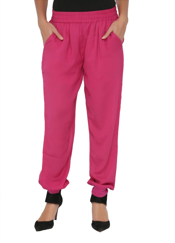 Philigree Solid Polyester Women's Harem Pants