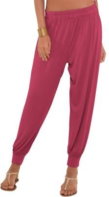 Go Colors Solid Viscose Women,s Harem Pants