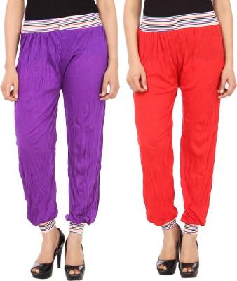 Gudluk Solid Cotton Women's Harem Pants