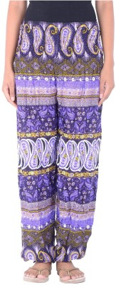 Legginstore Floral Print Cotton Lycra Blend Women's Harem Pants