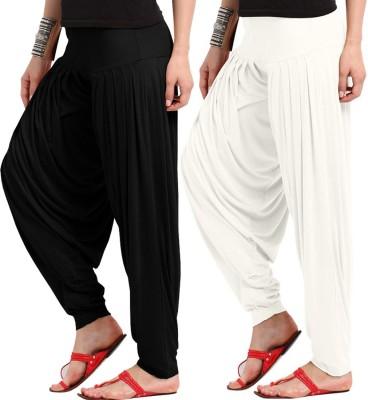 Wellfitlook Solid Viscose Womens Harem Pants