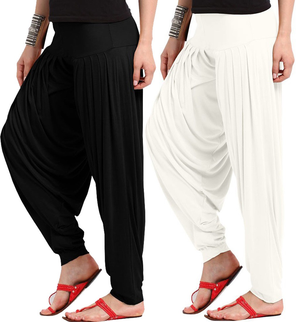 WellFitLook Solid Viscose Womens Harem Pants