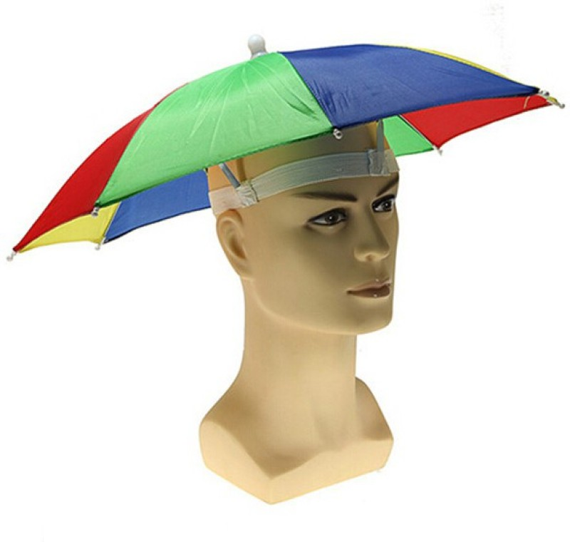 Globalgifts Umbrella Hat(Blue, Red, Pack of 1)