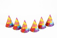 Funcart Cone Hat(Multicolor, Pack of 6)