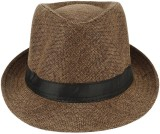 Natali Traders Fedora (Brown, Pack of 1)