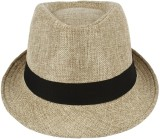 Natali Traders Fedora (Cream, Pack of 1)
