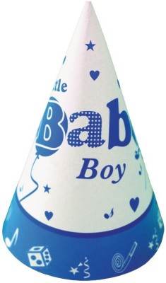 Birthdays & Parties Cone Hat(Blue, Pack of 10)