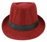 Natali Traders Fedora (Red, Pack of 1)