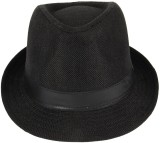 Natali Traders Fedora (Black, Pack of 1)