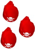 Oxytrends Pirate Round Hats (Red, Pack o...