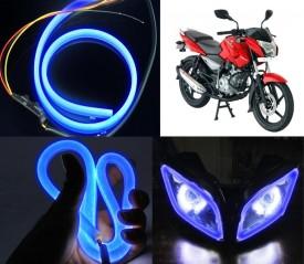 Vheelocityin 79853 LED Headlight With Bulb For Bajaj