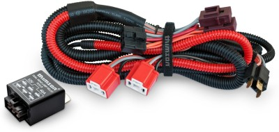 Thimson 2 Lamps H4 Headlamp wiring kit with relay Headlight Brightener