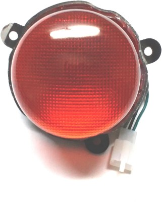 Bikers World Red Tail Light Assembley For Royal Enfield Classic Rearlight Frame Support