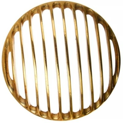 Bikers World Golden Heavy Metal Headlight Grill 7.5