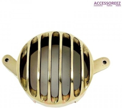 ACCESSOREEZ Golden Tail Light Grill For Royal Enfield Bullet 350 Twinspark Rearlight Frame Support