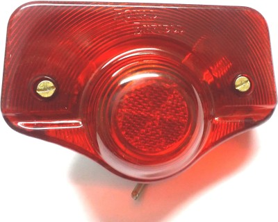 Bikers World Red Tail Light Lamp Assembly For Royal Enfield Standard Old Model Rearlight Frame Support